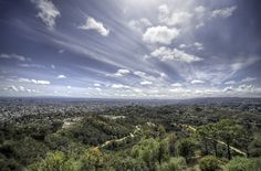 Esta foto fue tomada desde la parte superior del Observatorio Griffith en Los Ángeles.