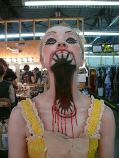 Please note,I'm not crazy I promise, but this is a great idea for theatre students during a makeup unit. Make use of your neck while doing special effects makeup!