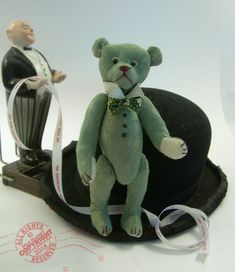 """This is """"Groom's Bear"""", (© -- designed specifically to be a manly gift for the soon to be wed man in your life. From 1986 to 1996 over teddy bears and soft toys were sold. Since 1996 only a handful of bears and toys have been created. Wedding Gifts, Wedding Men, Bear Art, Teddybear, Newlyweds, I Shop, Dinosaur Stuffed Animal, Groom, Men Gifts"""