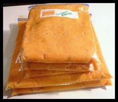 How to freeze sweet potatoes.