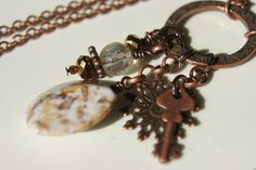 Messy Crow Copper Key Necklace by MessyCrow on Etsy, $25.00