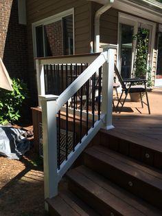 Vinyl handrails Composite deck