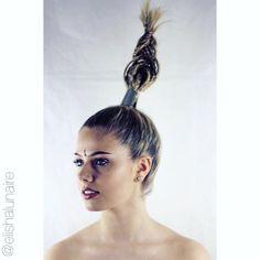 "Elisha Lunaire on Instagram: ""Model: @_msaw Hair & Styling: @elishalunaire Make Up: @_msaw Photography: @kieronthebarber #hairdressing #hair #hairup #braids #blonde #photoshoot #editorial #schwarzkopf #goldwell #elumen #grunge #metallic #unicorntribe #itsallaboutdahair #hairbesties #rhapsodyhair #hairbyelisha"""