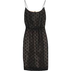 J.Crew Cotton-blend lace and chiffon dress, found on polyvore.com