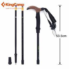 KingCamp Ultra-light Walking Sticks Carbon Fiber Cork T-handle Hiking Stick Walking Trekking Pole for Climbing Mountaineer