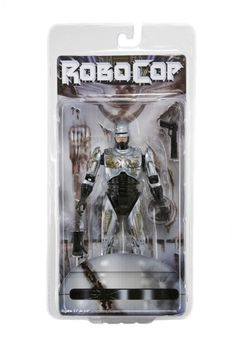 This highly detailed Battle Damaged Robocop might be bruised up after duking it out with ED-209, but he's still got over 20 points of articulation, an interchangeable Data Spike hand and Auto-9 pistol accessory.