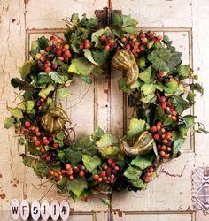 Vineyard Harvest Door Wreaths For Fall