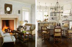 Spotlight on Steven Gambrel // Live Simply by Annie Herringbone Fireplace, Interior Styling, Interior Design, Gambrel, Wainscoting, Living Room Inspiration, Elle Decor, Kitchen Design, Kitchen Tile