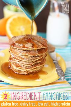 Magical kid-friendly pancakes with only 2 surprising ingredients banana + 2 eggs). Add pinch of baking soda, sunbutter & quick oats for flavor & substance. Healthy breakfast from Our Best Bites. Pb2 Recipes, Baby Food Recipes, Low Carb Recipes, Cooking Recipes, Healthy Recipes, Breakfast And Brunch, Breakfast Recipes, Good Food, Yummy Food