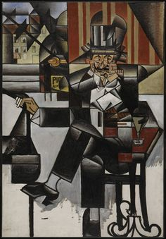 Juan Gris: Man in Cafe (1912)