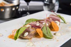 Carte Automne 2016 - Le thon au gomasio, caviar d'aubergine & crème fraîche wasabi/yuzu #gastronomie #lyon #restaurant