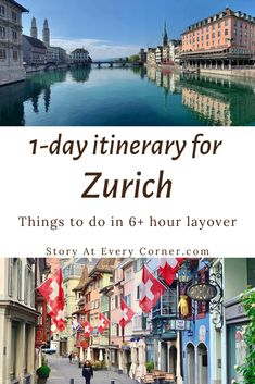 If you have a 6  hour layover at Zürich airport, here is the perfect itinerary for you to make a day trip exploring Zurich. Zurich city is only 10 minutes train ride from the airport, making it easily accessible during a layover.  #StoryAtEveryCorner #Zurich #Layover #DayTrip Europe Bucket List, Europe Travel Tips, Train Rides, Walking Tour, Taking Pictures, Day Trip, Cool Places To Visit, Travel Inspiration, Tours