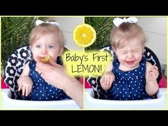 BABY'S FIRST LEMON!! HILARIOUS REACTION!! - YouTube