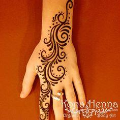 HAND  SWIRLS  Kona Henna Studio -