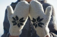 Winter Mittens 100% Himalayan Wool Hand Knit от CozyWoolCreation