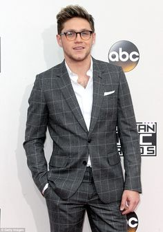 Specs-tacular! Niall sported a bit of scruff and a pair of tortoise shell glasses which ad...