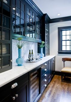 Narrow Cabinets Countertop Extending From Kitchen To Dining Room Built In Bar