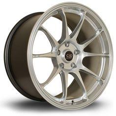 18 ROTA TITAN SILVER 9.5J 5 stud 30 offset alloy wheels