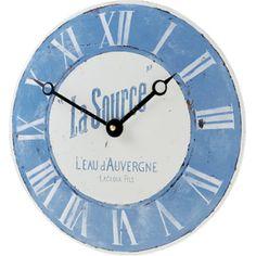 Roger Lascelles Convex Enamel French Wall Clock 28cm http://www.ocado.com
