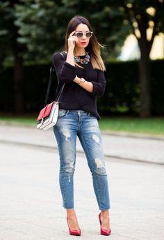 EstiloDF » Street style alert: ¡los pantalones rasgados son lo más It!