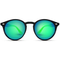 Green reflective new glasses. New vintage retro glasses. Classic round sunglasses perfect retro look has come back full force and round frame sunglasses are a must have! These frames are going to set trends and have people asking y