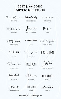 I& put together a list of my favorite, boho and adventure styled fonts tha. - - I& put together a list of my favorite, boho and adventure styled fonts that are fo& free. Whether it& a dreamy script or edgy block lettering… Adventure Fonts, Adventure Style, Adventure Tattoo, Block Lettering, Hand Lettering, Tatoo Lettering, Block Letter Fonts, Lettering Ideas, Cool Letter Fonts