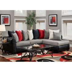 Red Living Room Sets components can add a touch of favor and design to any house. Red Living Room Sets can imply many issues to many individuals… Cheap Living Room Furniture, Black And Red Living Room, Grey And Red Living Room, Couches Living Room, Red Living Room Set, Living Room Sets Furniture, Black Living Room, Living Room Sets, Living Room Grey