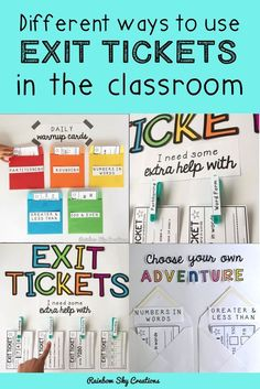 Different ways to use exit tickets in the classroom. Use exit tickets or exits slips to assess students understanding. Use for pre-assessment, formative assessment or summative assessment. #exittickets #exitslips #assessments #aussieteachers #teacherspayteachers