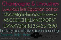 Champagne & Limousines Font   dafont.com