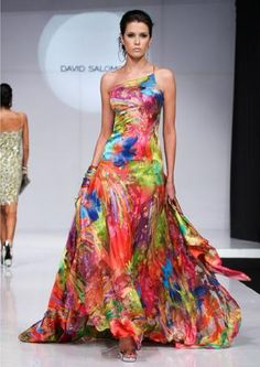 Mexico Fashion Week: David Salomon Spring 2009 - I like these Mexican influenced fashions - For more of Mexico visit www. Fashion Week, Love Fashion, Spring Fashion, Fashion Design, Pretty Outfits, Pretty Dresses, Beautiful Dresses, Ethnic Fashion, Colorful Fashion