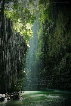 Green Canyon in Ciamis, West Java, Indonesia. The Green Canyon in Ciamis, West Java, Indonesia (by Happy wind). Beautiful World, Beautiful Places, Beautiful Pictures, Amazing Places, All Nature, Amazing Nature, Places To Travel, Places To See, Travel Destinations