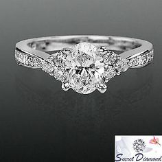 Simple, elegant oval cut diamond ring.