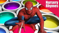 Learn Colors With Spiderman - Learning Nursery Rhyme Animation with Cars for Kids