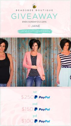 I entered the Jane.com #Giveaway for a chance to win PayPal CASH from Beadsbee Boutique!