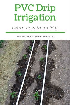 After adding a PVC drip irrigation system to your garden you can expect stronger vegetable plants, fewer weeds, and a lower water bill! plans PVC Drip Irrigation System for your garden - Our Stoney Acres Fall Vegetables, Planting Vegetables, Growing Vegetables, Vegetable Gardening, Growing Tomatoes, Gardening For Beginners, Gardening Tips, Pallet Gardening, Garden Watering System