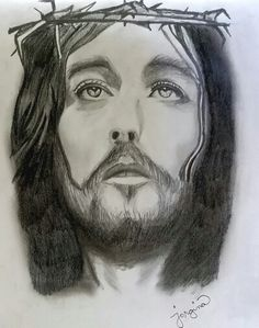 This is my drawing of Jesus Christ. Been a long time since I last drew something. ☺ #jesus #christ #drawing #sketch #art