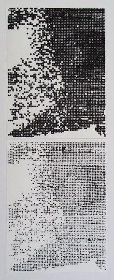 CORINNE LAROCHE - Her (a part of),2010 Tusche auf Papier, 42 x 16 cm: