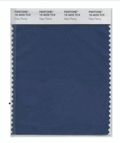PANTONE 19-4029 Navy Peony A mainstay for the season for both palettes, Navy Peony is a dependable and an anchoring shade. Solid and stable, the hue takes some of the load off of black as a go-to neutral.