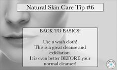 A wash cloth is the easiest skin care secret! Facial Skin Care, Natural Skin Care, Skin Tips, Skin Care Tips, Back To Basics, Homemade Skin Care, Anti Aging Cream, Face Skin, Beauty Ideas