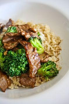 Homemade Take-Out...Beef & Broccoli... maybe i could do green beans instead of broccoli? yeah? :)