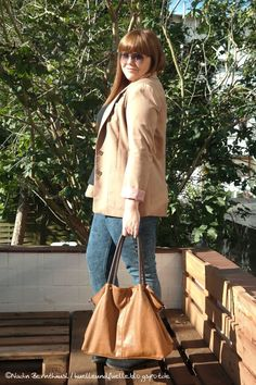 Hülle & Fülle Plus Size Fashion Blog: Camel Blazer Love, OOTD, fall outfit, every day outfit