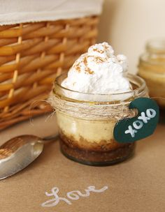 Pumpkin Cheesecakes with Gingersnap Crusts