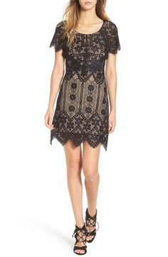 For Love & Lemons x Nordstrom 'Lyla' Lace Minidress (Nordstrom Exclusive)…