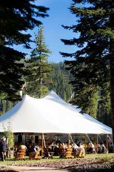 Gorgeous tent by Zephyr Tents. The Ritz-Carlton Lake Tahoe Wedding, Photography by The Youngrens, Styled by Merrily Wed (View more of this wedding: http://theyoungrens.com/portfolio-item/ritz-carlton-lake-tahoe-wedding-chris-katie/)