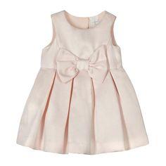 J by Jasper Conran Designer babies pink bow applique dress-   Debenhams