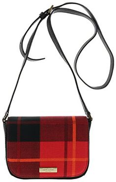 Kate Spade New York Newbury Lane Plaid Carsen Crossbody Bag Plaid Red ** Click on the image for additional details.