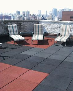 No Fault's rubber safety tiles are ideal for patio area s and rooftop applications, as well as playgrounds! Roof Balcony, Roof Deck, Outdoor Rubber Tiles, Wood Mulch, Pea Gravel, Rubber Mat, Recycled Rubber, Outdoor Furniture, Outdoor Decor