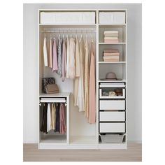 Furniture and Home Furnishings IKEA - PAX Wardrobe white, Marnardal floral patterned Ikea Pax Wardrobe, Ikea Closet, Diy Wardrobe, Closet Bedroom, White Wardrobe, Wardrobe Storage, Small Wardrobe, Storage Room, Wardrobe Ideas