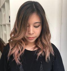 Rose gold balayage  #rosegold #rosegoldhair #balayage #asianhair #asian #hair # hairideas