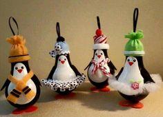 Light Bulb Penguin Ornaments